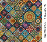 colorful vintage seamless... | Shutterstock .eps vector #546962275