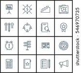 set of 16 project management... | Shutterstock .eps vector #546970735