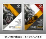 yellow flyer cover business... | Shutterstock .eps vector #546971455