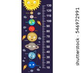 cute solar system height... | Shutterstock .eps vector #546972991