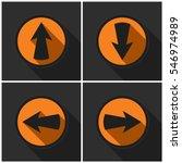 four orange round   black... | Shutterstock .eps vector #546974989