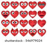 emoticons or smiley hearts... | Shutterstock .eps vector #546979024