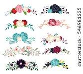 flowers set   Shutterstock .eps vector #546981325