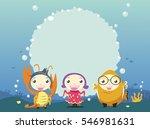 kids fantasy under water board...   Shutterstock .eps vector #546981631