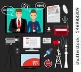 news concept illustration with... | Shutterstock .eps vector #546988309