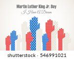 martin luter king jr. day... | Shutterstock .eps vector #546991021