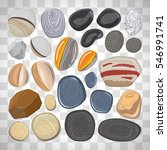vector river stones isolated on ... | Shutterstock .eps vector #546991741