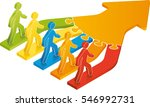 joining together to form a team | Shutterstock .eps vector #546992731