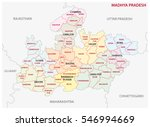 madhya pradesh administrative... | Shutterstock .eps vector #546994669
