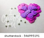 a lot of little hearts on gray... | Shutterstock . vector #546995191