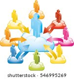 cloud team manager | Shutterstock .eps vector #546995269