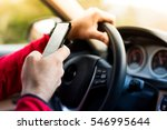 dangerous texting and driving...   Shutterstock . vector #546995644