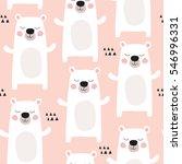 seamless pastel polar bear... | Shutterstock .eps vector #546996331