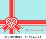 banner valentines day with... | Shutterstock .eps vector #547011715