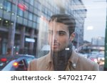 portrait of a beautiful young... | Shutterstock . vector #547021747
