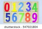 colorful wooden blocks numbers... | Shutterstock . vector #547021804