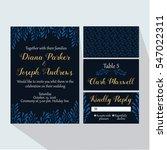 invitation dark | Shutterstock .eps vector #547022311
