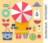 summer holidays on beach | Shutterstock .eps vector #547023007