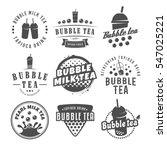 vector bubble tea logos. set of ... | Shutterstock .eps vector #547025221