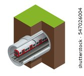 underground isometric train.... | Shutterstock .eps vector #547026004