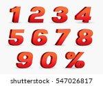 3d vector  0  1  2  3  4  5  6  ... | Shutterstock .eps vector #547026817