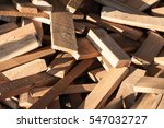 Pile Of Wood Logs For Build...