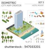 flat 3d isometric resort hotel  ... | Shutterstock .eps vector #547033201