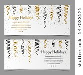 vector cards with black and... | Shutterstock .eps vector #547033525