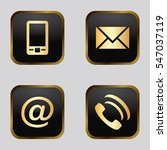 vector icon set  golden... | Shutterstock .eps vector #547037119