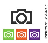 camera icon isolated on grey...