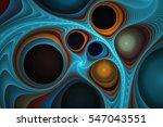 abstract fractal bubbles   Shutterstock . vector #547043551
