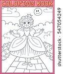 coloring book. little princess... | Shutterstock .eps vector #547054249