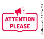 Attention Please. Badge With...