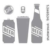 a set of simple vector beer... | Shutterstock .eps vector #547059571
