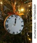 clock on christmas tree   Shutterstock . vector #547060369