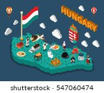 hungary isometric touristic map ... | Shutterstock .eps vector #547060474
