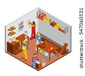 woodwork workshop isometric...   Shutterstock .eps vector #547060531