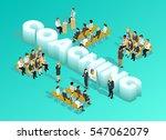 business education isometric... | Shutterstock .eps vector #547062079