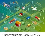 logistics isometric... | Shutterstock .eps vector #547062127