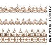 border brown henna elements in... | Shutterstock .eps vector #547065529