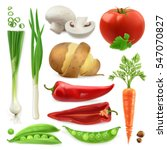realistic vegetables. potato ... | Shutterstock .eps vector #547070827