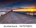 Cold Winter Morning  Pier In...