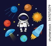 set of spaceman in space ... | Shutterstock .eps vector #547071079