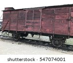 boxcar used to transport jews... | Shutterstock . vector #547074001