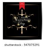 happy valentine's day lettering | Shutterstock .eps vector #547075291