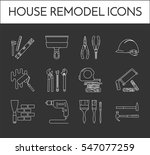 house remodel line icons. set... | Shutterstock .eps vector #547077259