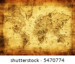 ancient map of the world | Shutterstock . vector #5470774