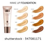 make up cosmetic products for... | Shutterstock .eps vector #547081171