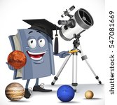 school astronomy textbook with... | Shutterstock .eps vector #547081669