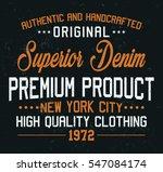 superior denim  premium product ...   Shutterstock .eps vector #547084174